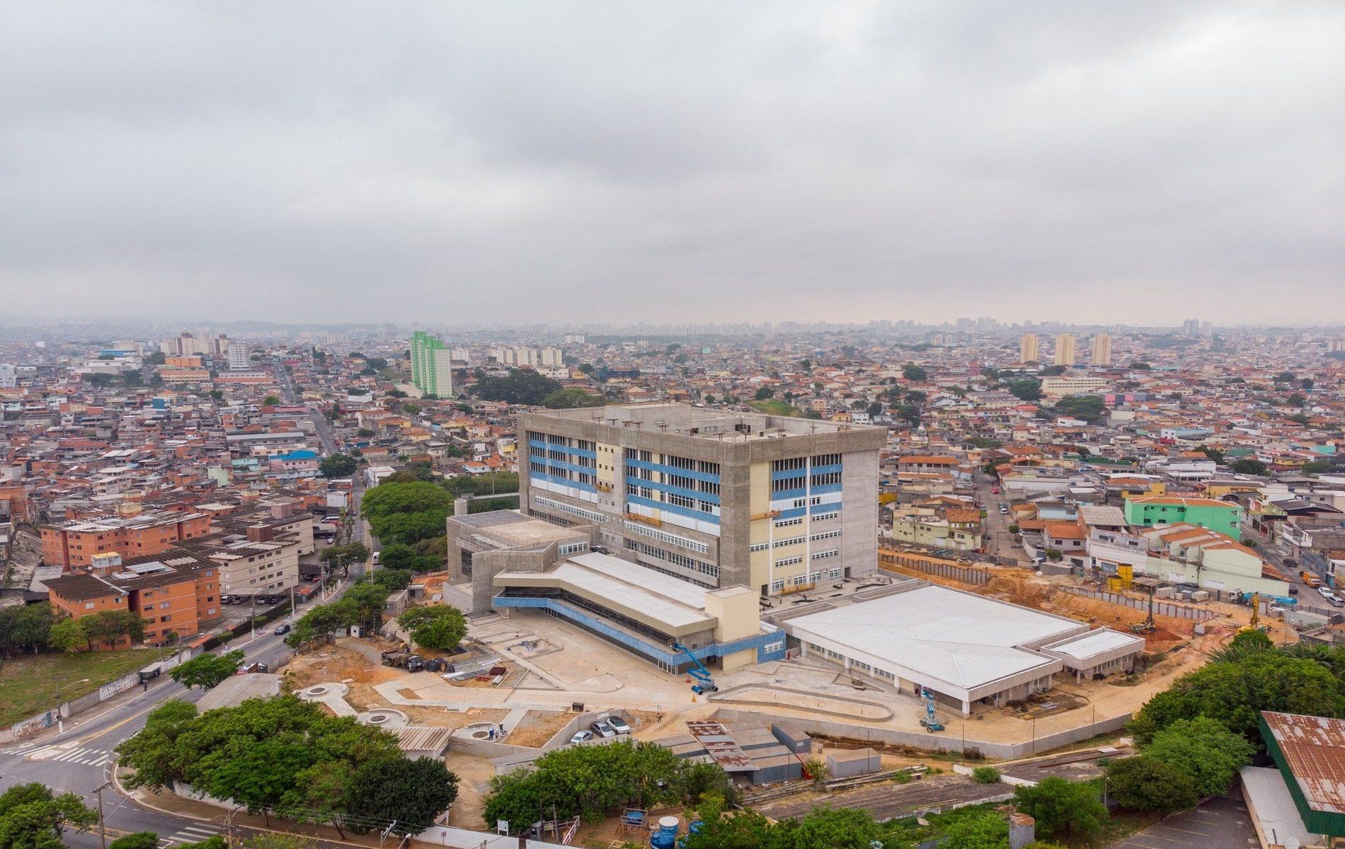 No mapa virtual interativo da cidade de São Paulo podem ser acompanhadas cerca de 150 obras de saúde. (Crédito: Diogo Moreira)