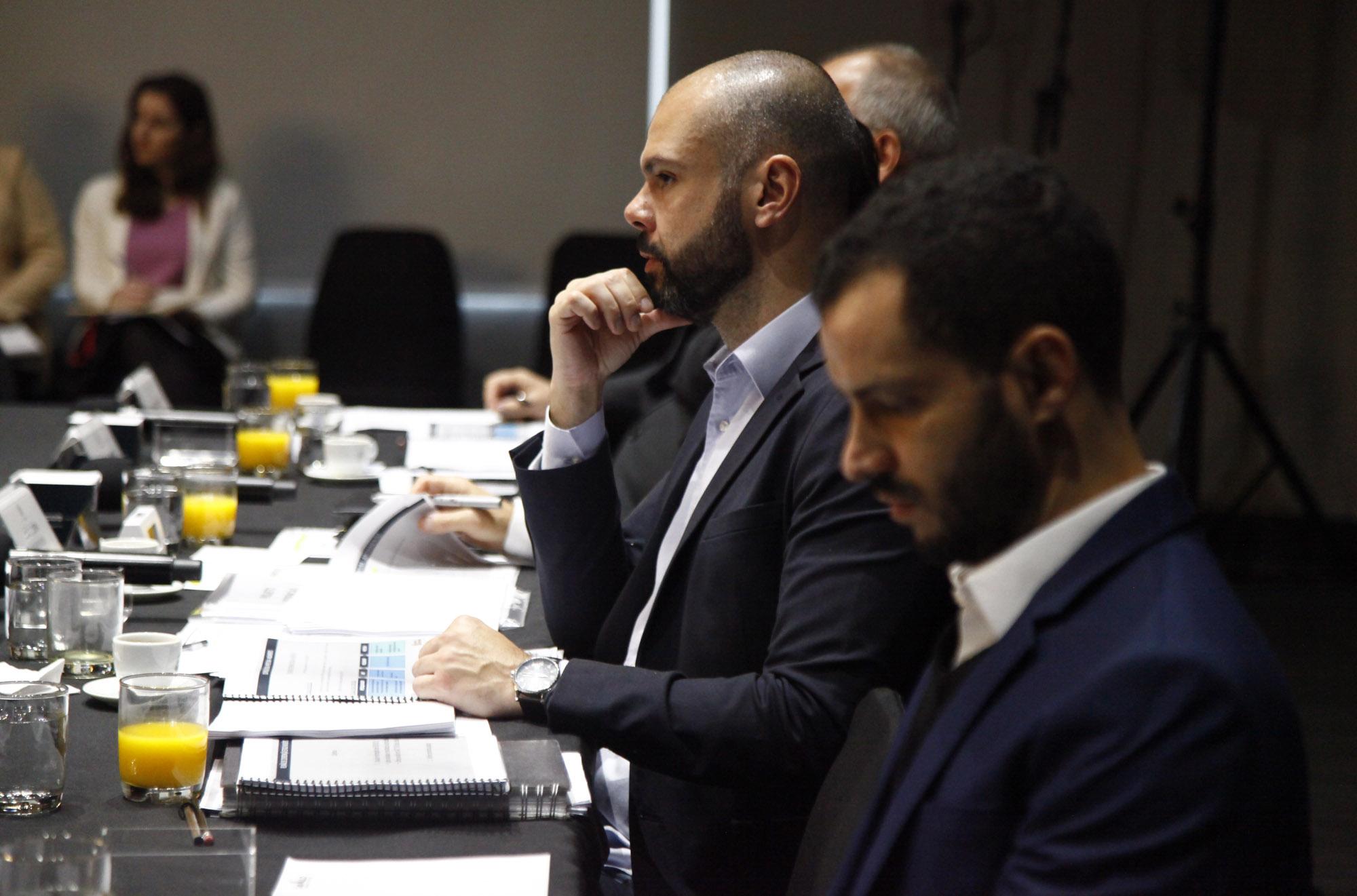 Prefeito Bruno Covas durante reunião do Programa Redenção, em setembro de 2019 (Crédito: Divulgação Prefeitura)