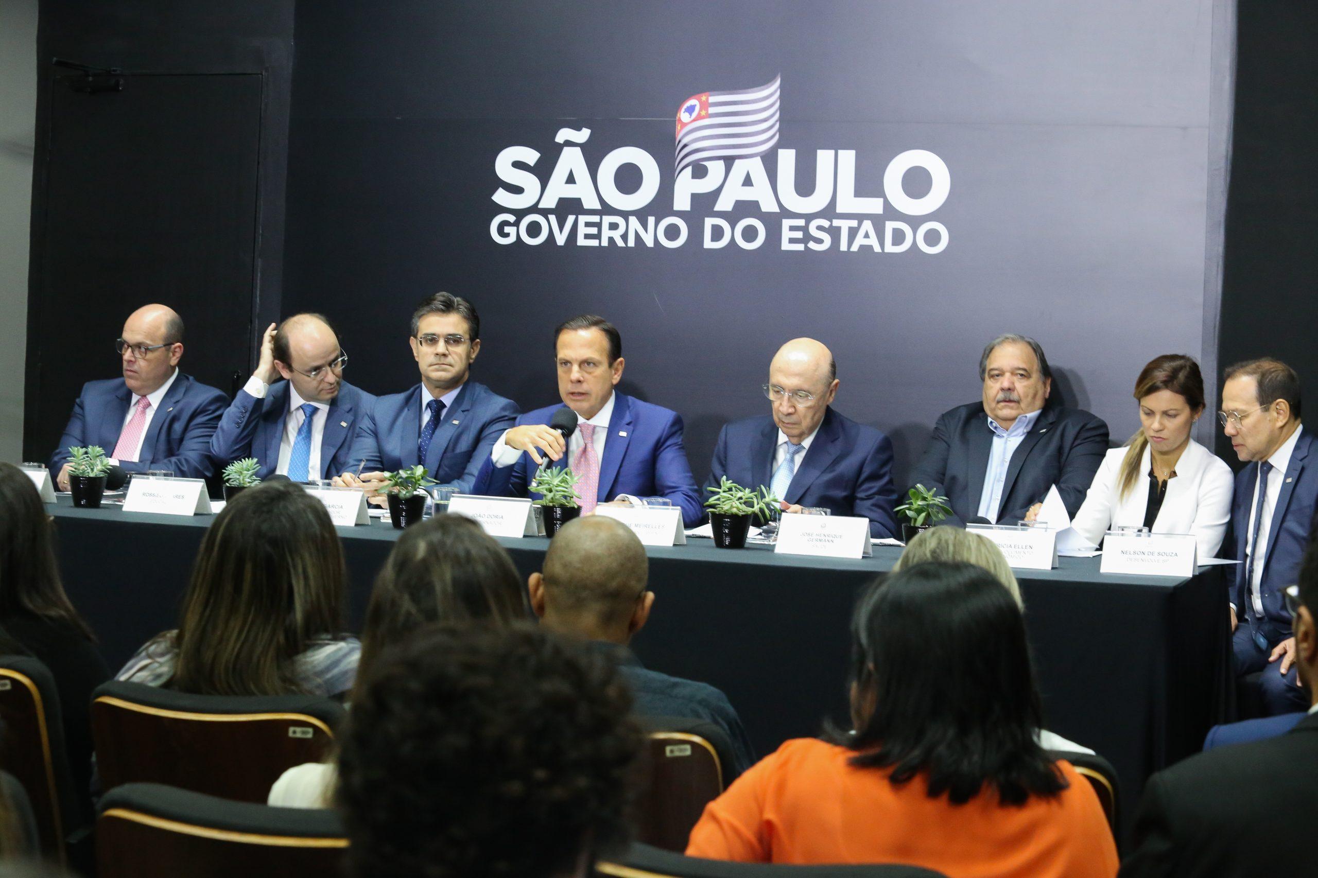 Coletiva para divulgação das medidas com a comissão de monitoramento dos impactos econômicos do coronavírus (Divulgação: Governo do Estado de São Paulo)