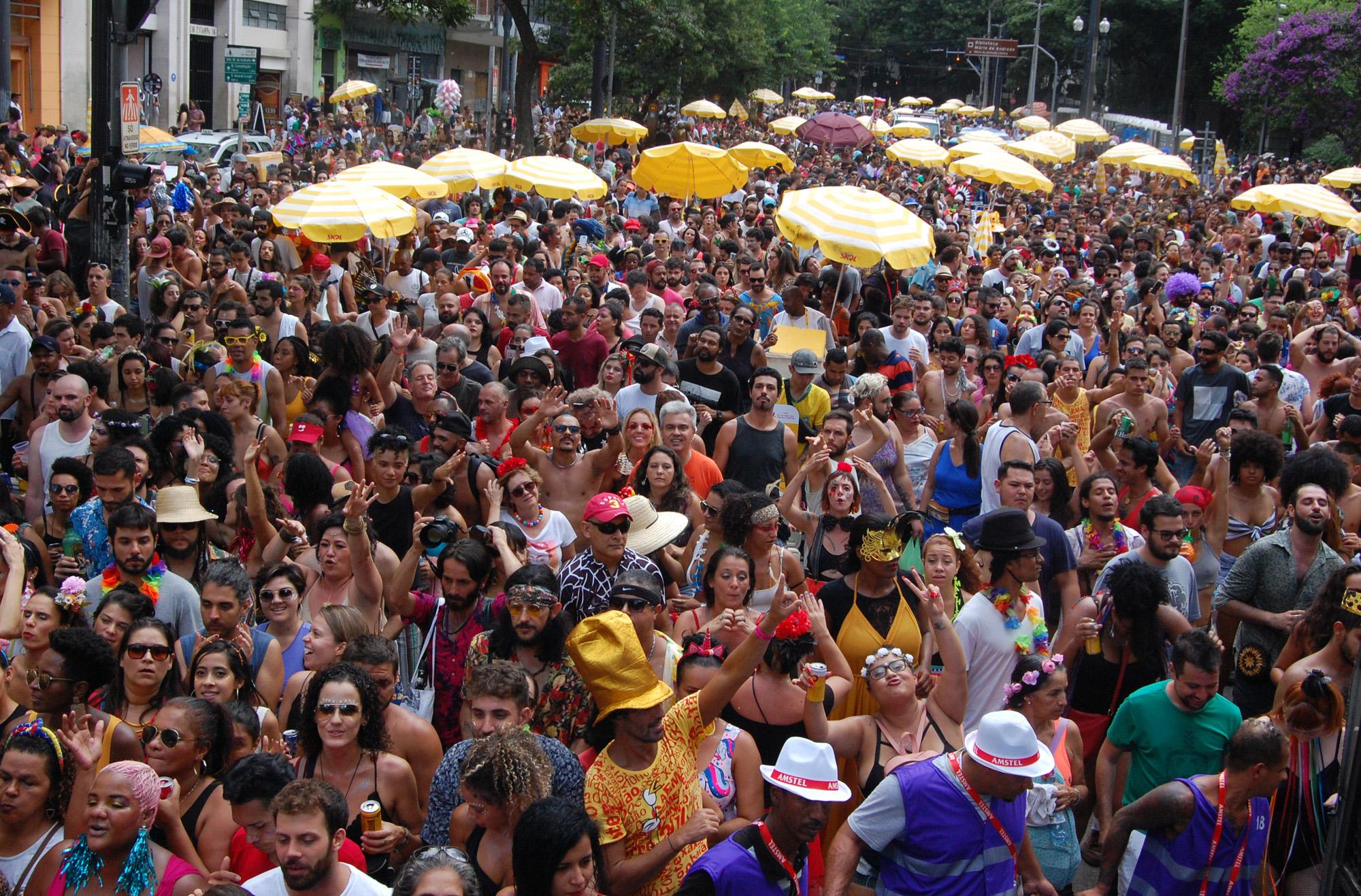 Carnaval em São Paulo reuniu cerca de 15 milhões de pessoas (Crédito: Divulgação Prefeitura)