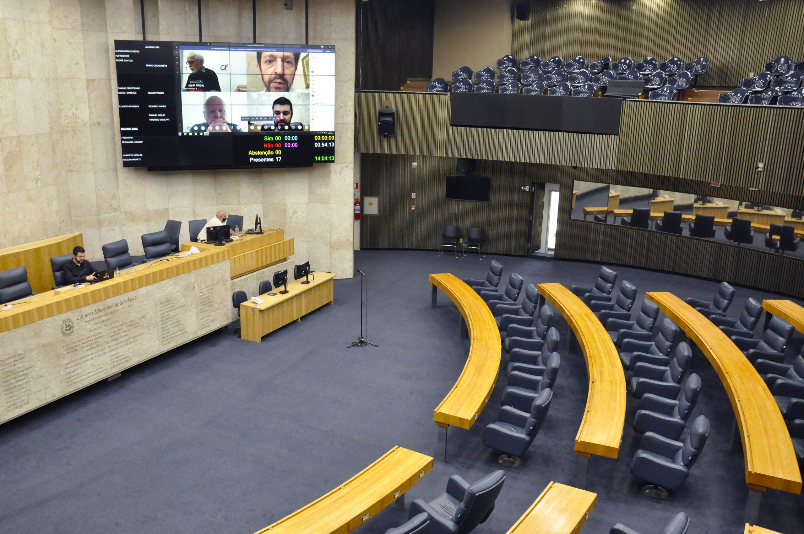 Projeto de Lei foi votado em Sessão Extraordinária Virtual e aprovada com unanimidade (Divulgação: Câmara Municipal de São Paulo)