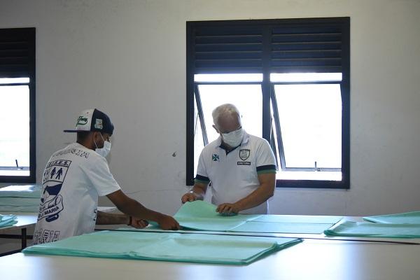 Produção das máscaras começou na semana passada (Divulgação: Prefeitura de São Paulo)