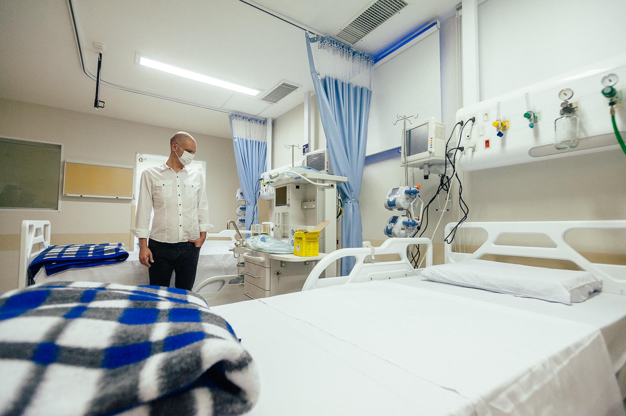 Prefeito Bruno Covas em visita ao Hospital Municipal Bela Vista (Divulgação: Prefeitura de São Paulo)