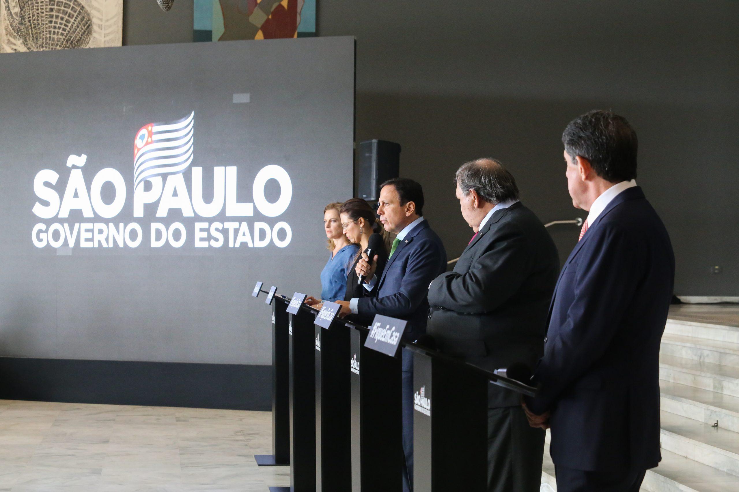 Entrevista coletiva da última quarta-feira, 6, no Palácio dos Bandeirantes. (Divulgação: Governo do Estado de São Paulo)