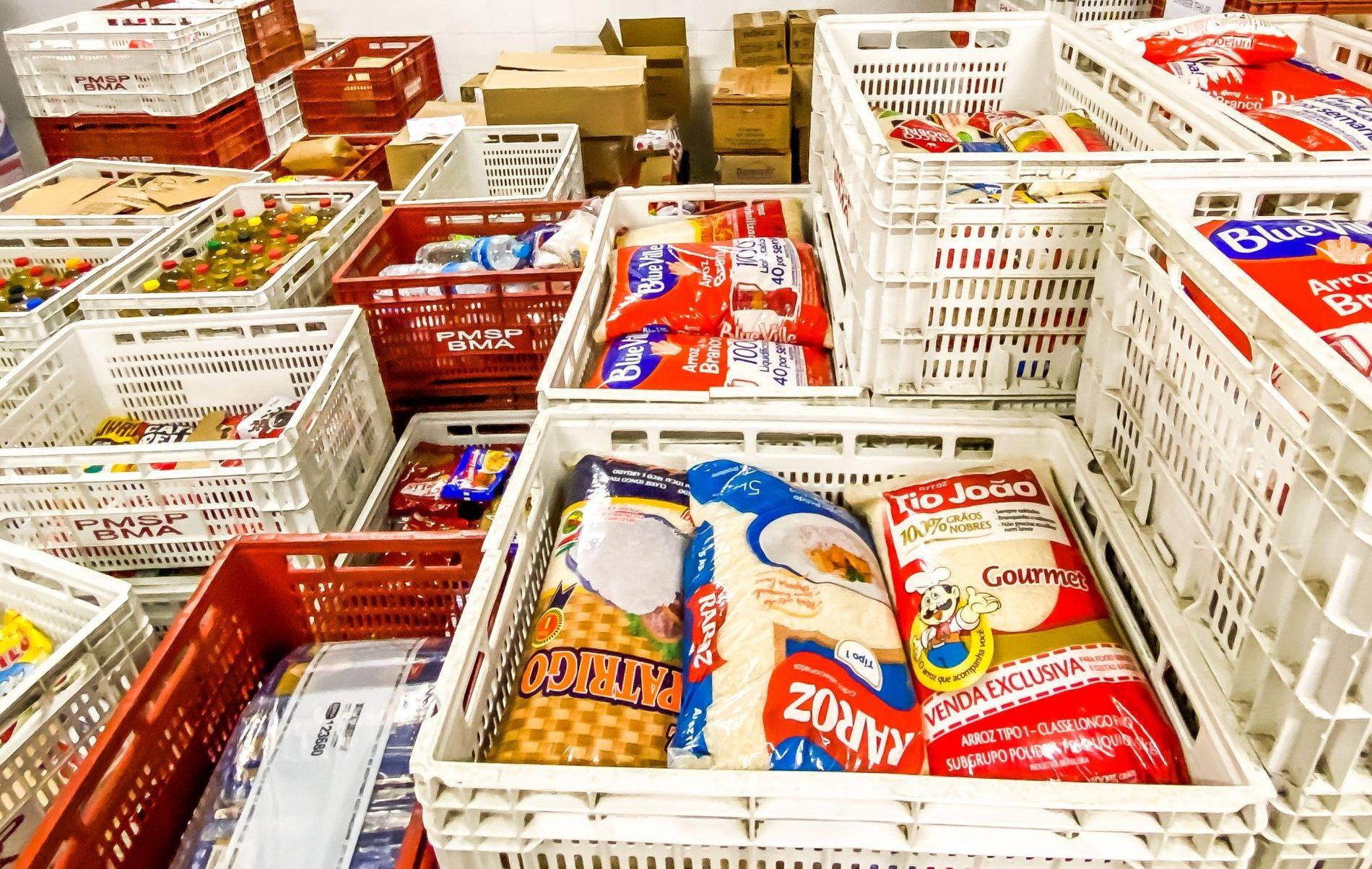 O Banco de Alimentos administra as doações de mantimentos para instituições da rede pública municipal de ONGs cadastradas. (Divulgação: Prefeitura de São Paulo)