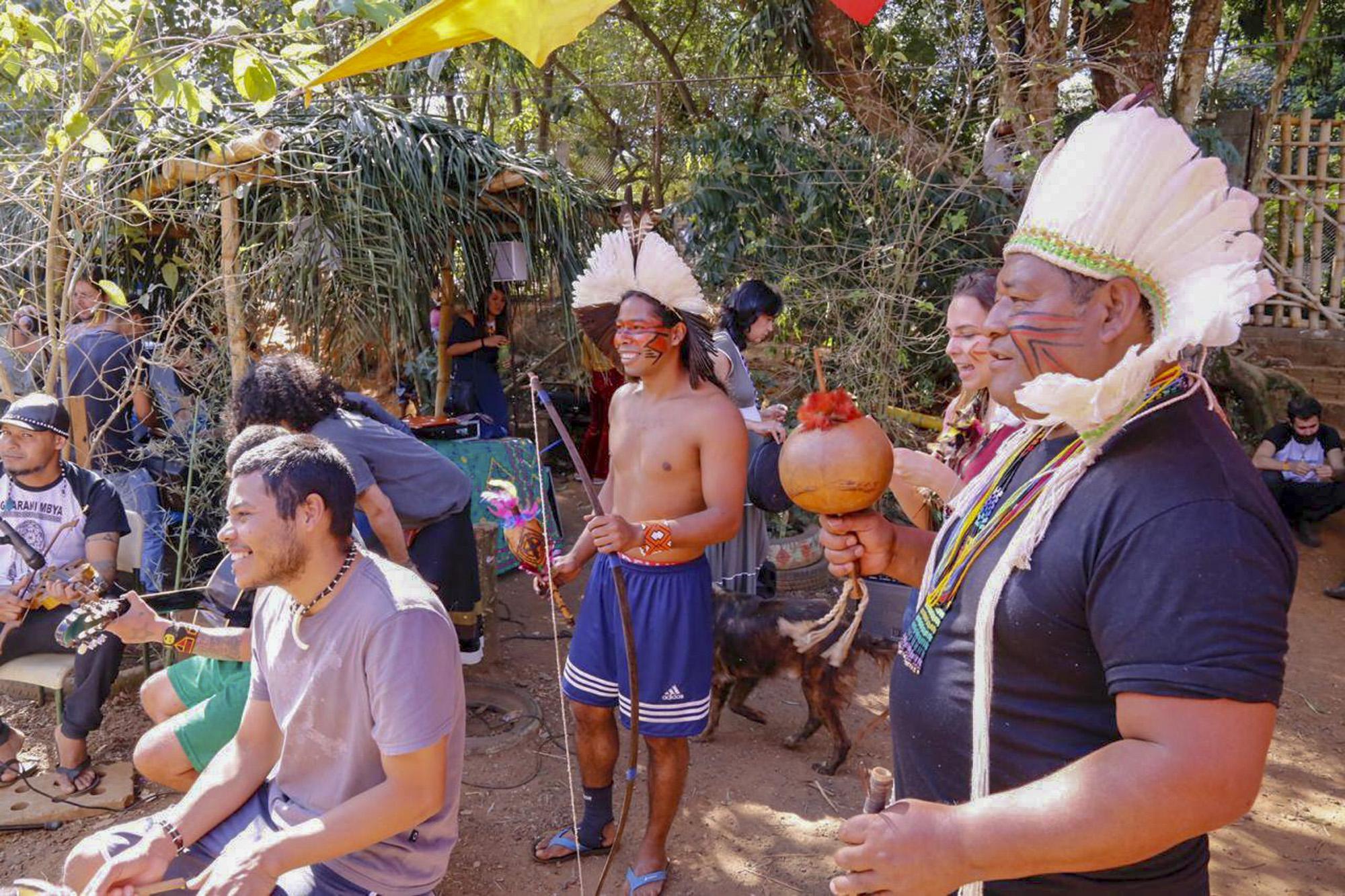 Aldeia Jaraguá-Kwarãy-Djekupé no Dia da Beleza Indígena realizado em junho do ano passado. (Divulgação: Prefeitura de São Paulo)