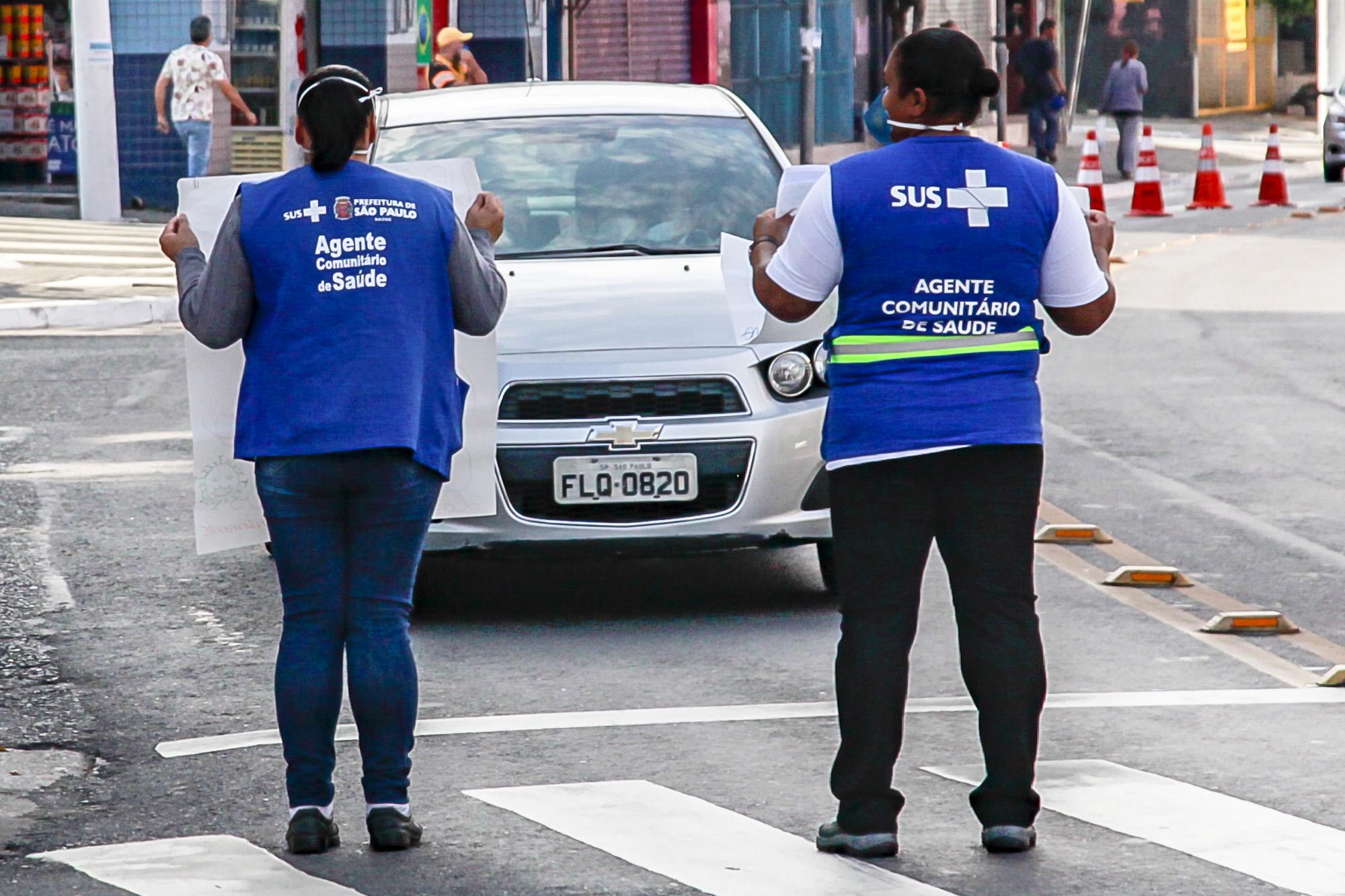 Motoristas receberão orientação de profissionais de saúde (Crédito: Divulgação Prefeitura)