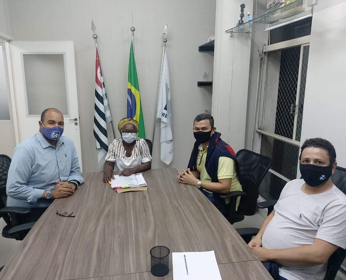 Presidente, Fernando Alfredo com os membros do Conselho de Gestão. (Crédito: Diretório Municipal SP).